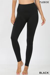 BLACK LEGGINGS (FLEECE LINED)