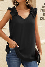 Load image into Gallery viewer, BLACK V NECK TANK