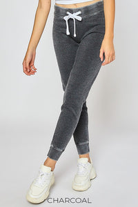 BURNOUT FLEECE JOGGER SWEATPANTS