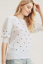 Load image into Gallery viewer, POLKA DOT PUFF SLEEVE