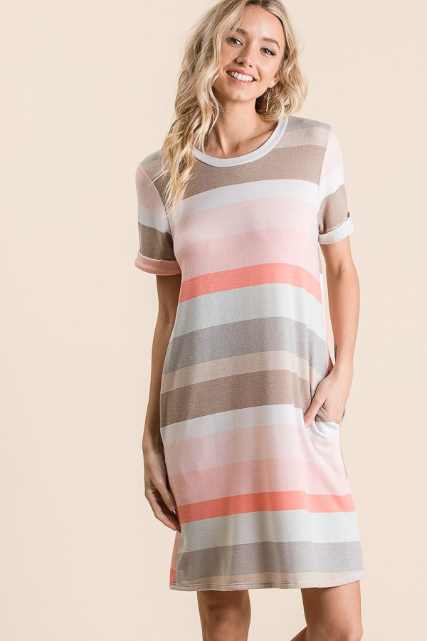 STRIPE TSHIRT DRESS