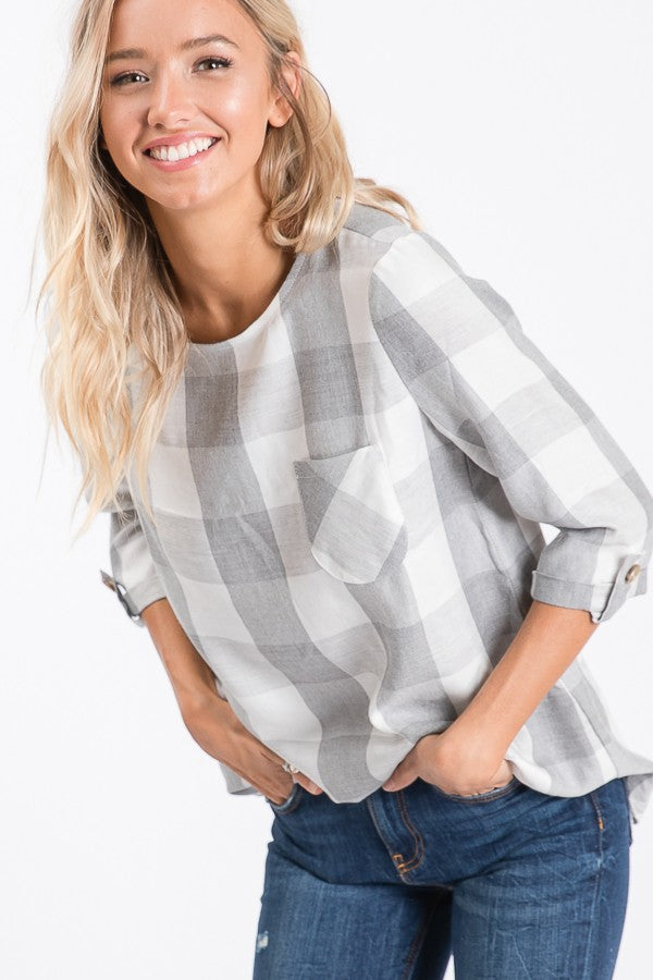 GREY PLAID SHIRT