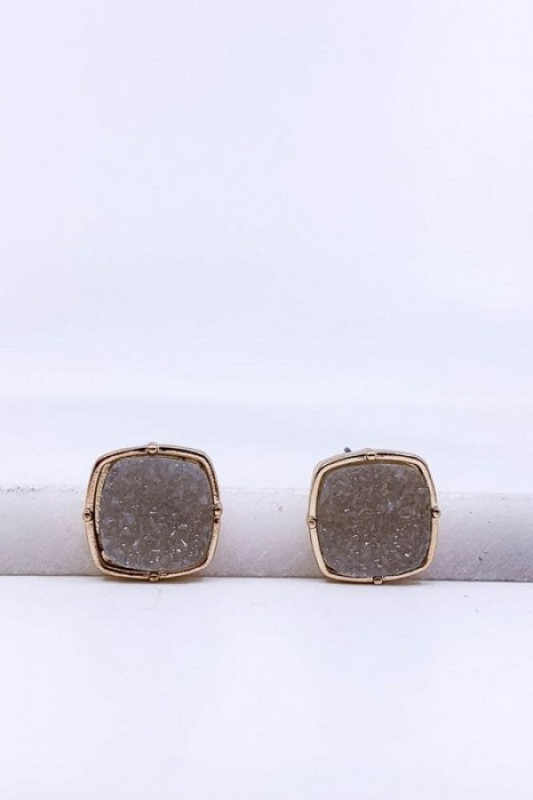 GREY STUD EARRINGS