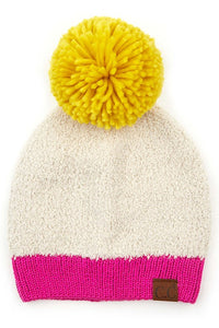 KNITTED SHERPA WINTER HAT