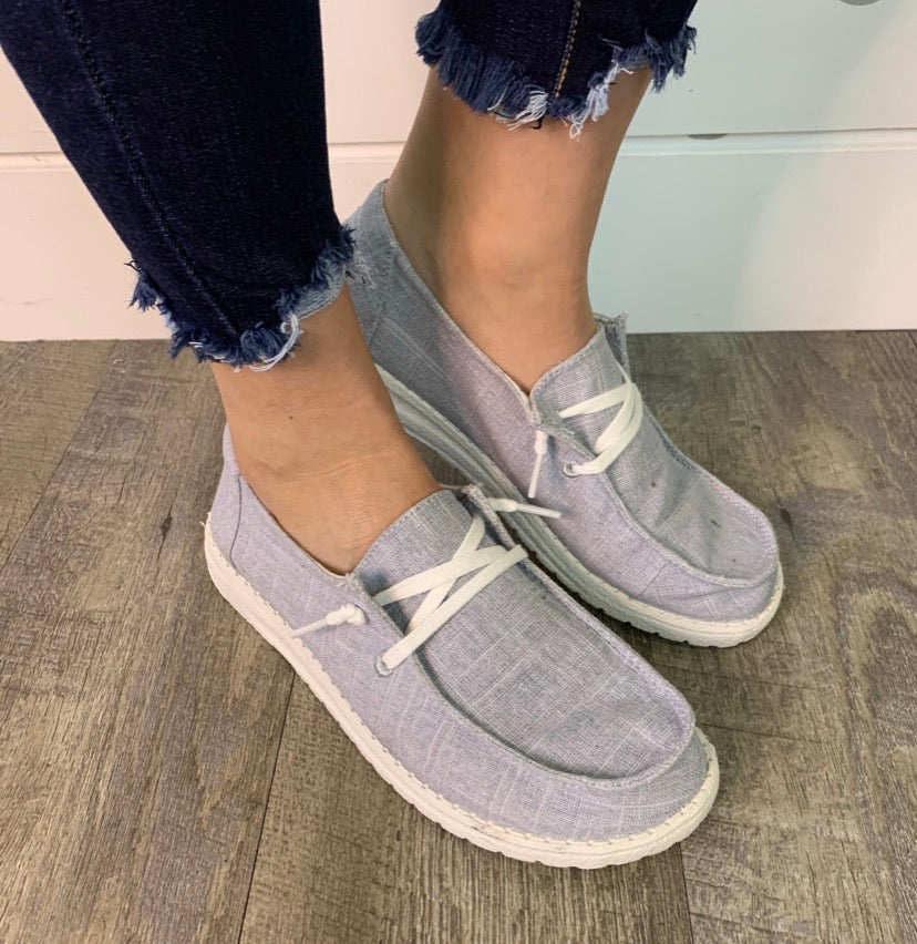 Lt. Grey Slip On Shoes