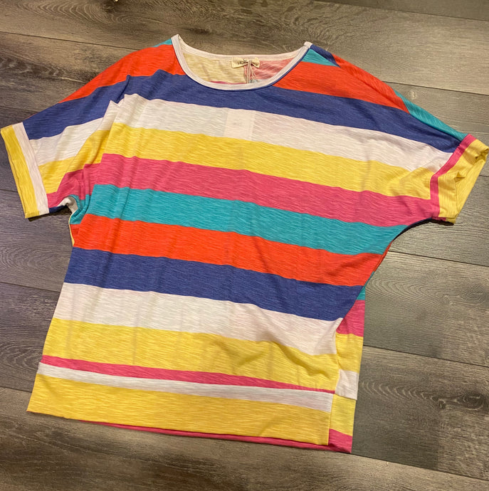 COLORFUL STRIPED SHORT SLEEVE