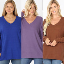 Load image into Gallery viewer, WAFFLE V-NECK (CURVY)