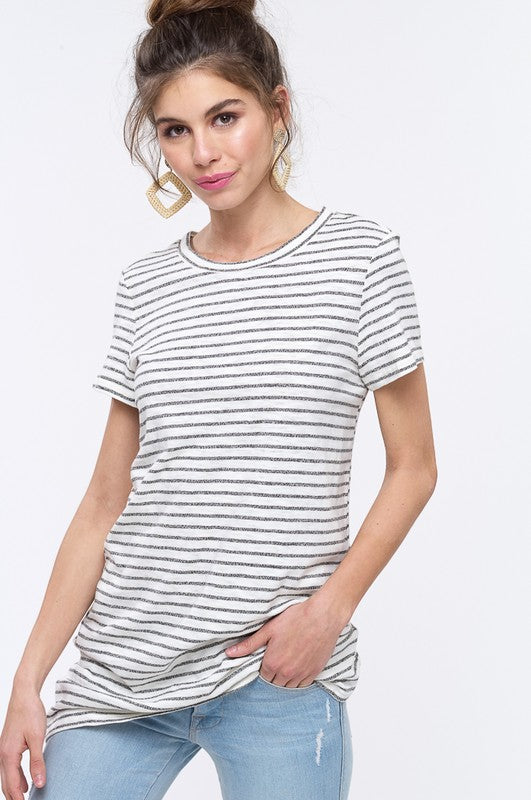 STRIPED JERSEY T-SHIRT DRESS