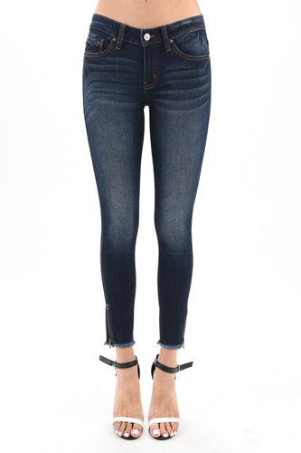 Kancan Cropped Zipper Jeans