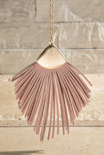 Load image into Gallery viewer, FAUX LEATHER TASSEL NECKLACE