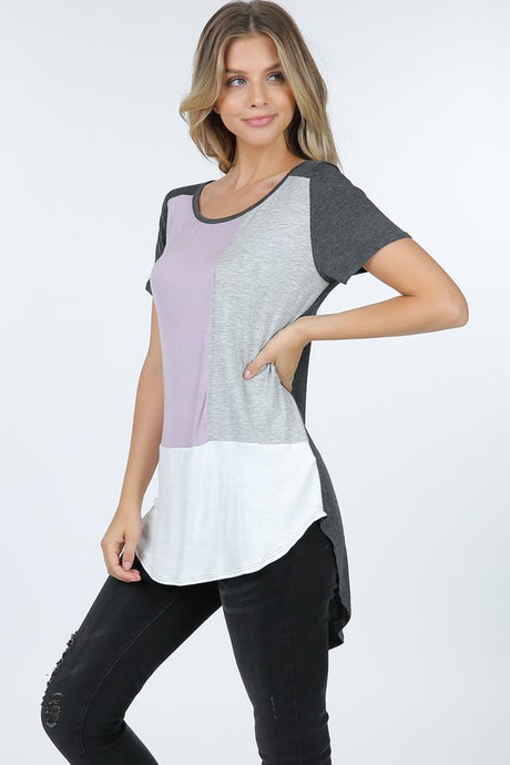 COLOR BLOCK TOP (CURVY)