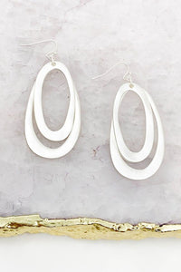 MATTE PLATED WARPED EARRINGS