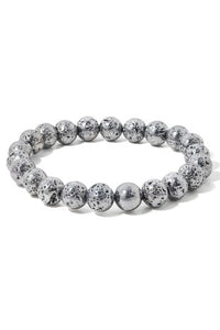 ROUGH METALLIC BALL BEADED BRACELET
