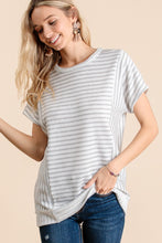 Load image into Gallery viewer, STRIPE SHORT SLEEVE TOP