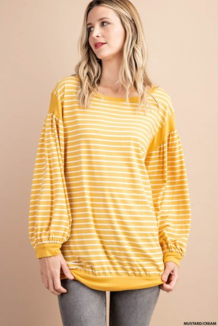 YELLOW STRIPE LONGS LEEVE