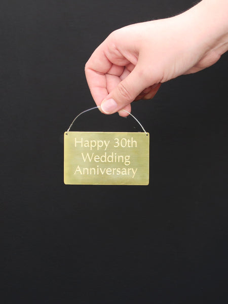 Personalised engraved brass plaque