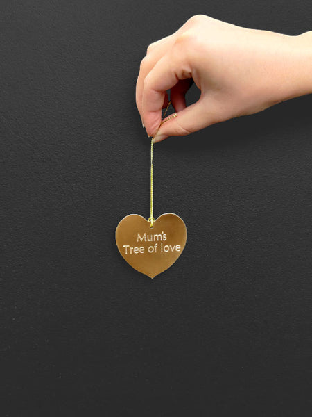 Personalised engraved heart