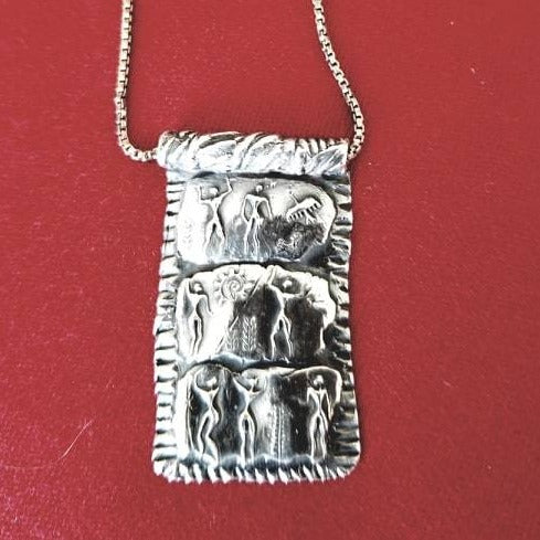 Ancient People Silver Necklace