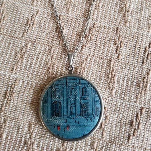 Repurposed Book Cover Necklace