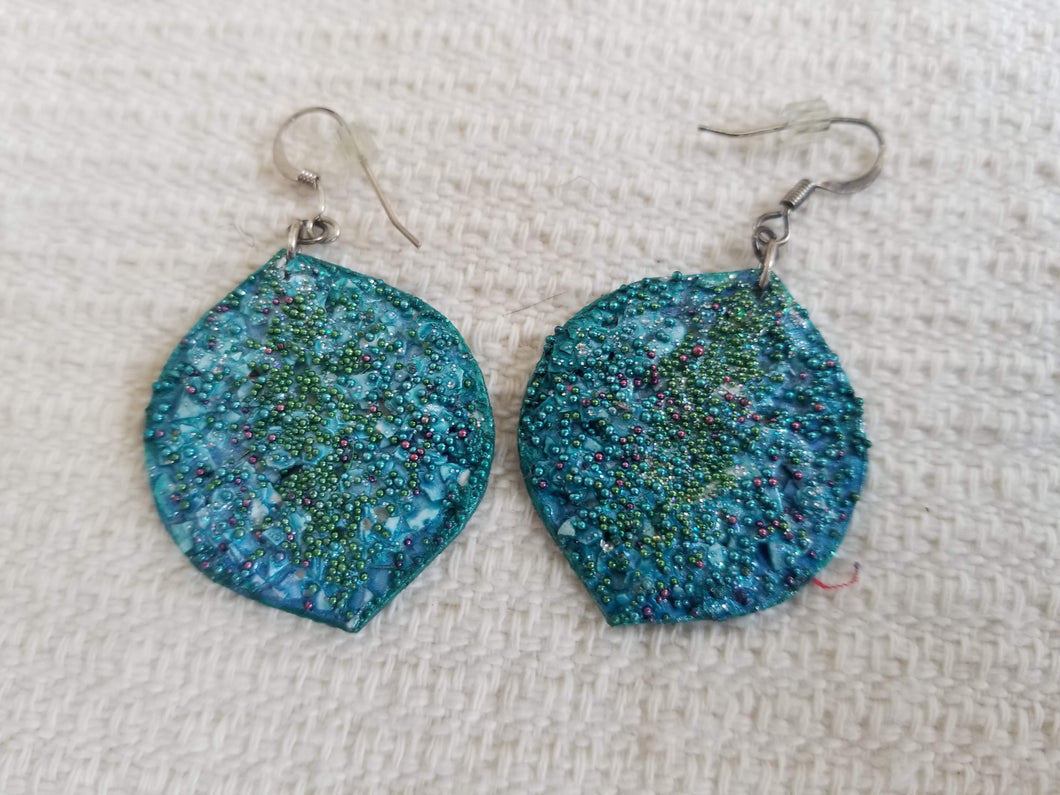 Handmade Turquoise Color Earrings