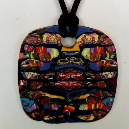 Poly clay multi color necklace