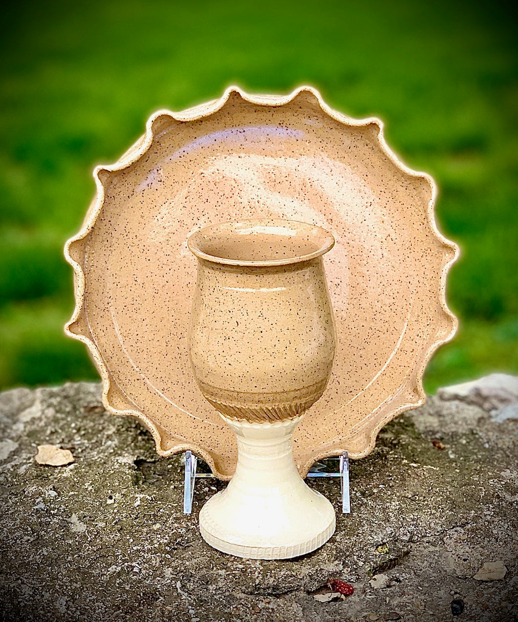 Handmade Ceramic Chalice sets
