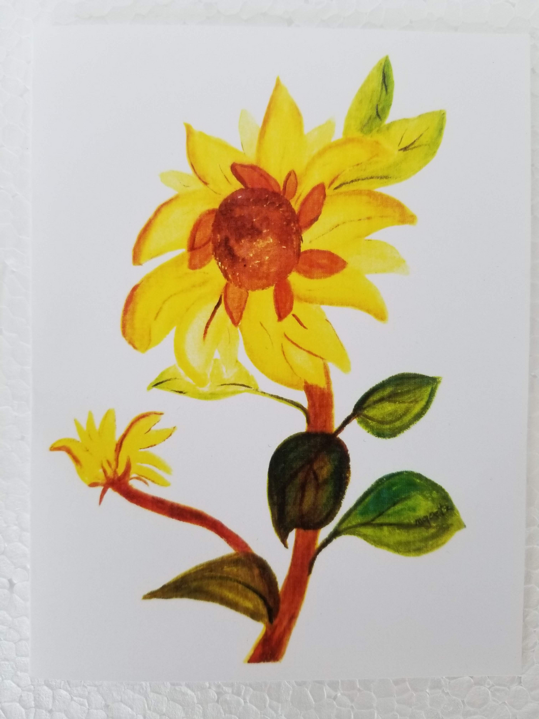Mary Goetz's picture card of her original painting