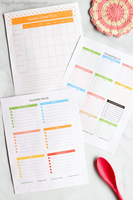 A few of the meal planning pages in the Chaos to Calm Life Planner