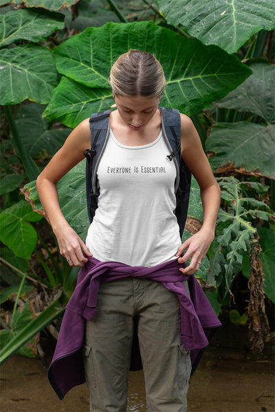Everyone is Essential Women's Racerback Tank