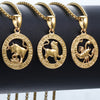 Zodiac Sign Gold or Titanium Necklace