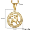 Horoscope Zodiac Sign Gold Pendant Necklace for all Zoink's (allow 6 - 8 weeks delivery)