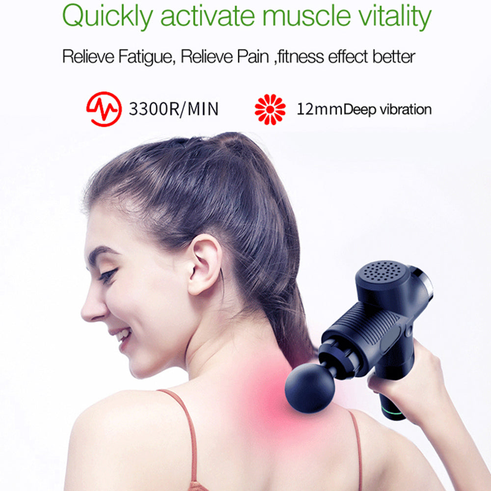 Muscle Massage Gun Fascia Gun Electric Deep Muscle Relaxation Fitness Percussion Massager Slimming Shaping Pain Relief Massager