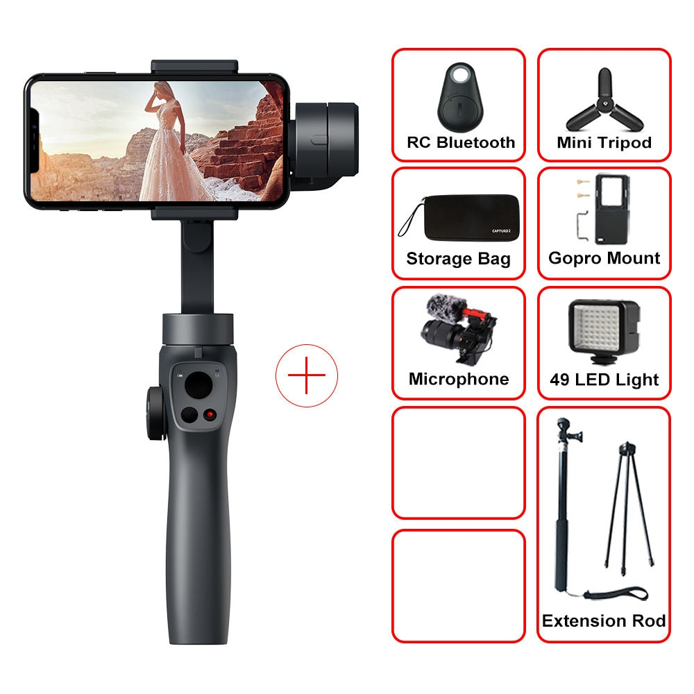 Spartles™ Funsnap Capture2 3-Axis Handheld Gimbal Stabilizer
