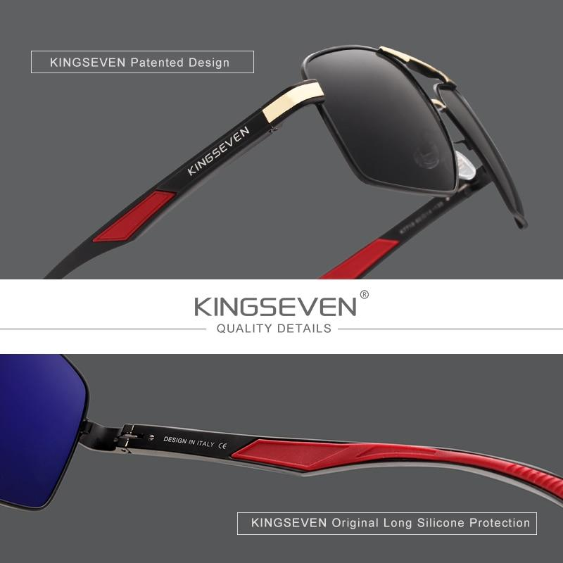 Kingseven Sunglasses with Polarised Lens case included