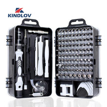 Charger l'image dans la galerie, KINDLOV 112 in 1 Screwdriver Set of Screw Driver Bit Set Multi-function Precision Mobile Phone Repair Device Hand Tools Torx Hex