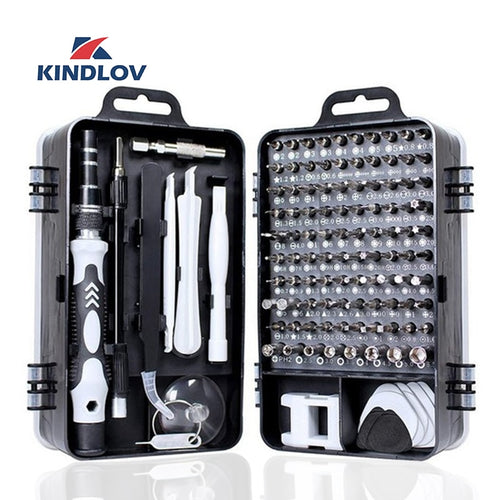 KINDLOV 112 in 1 Screwdriver Set of Screw Driver Bit Set Multi-function Precision Mobile Phone Repair Device Hand Tools Torx Hex