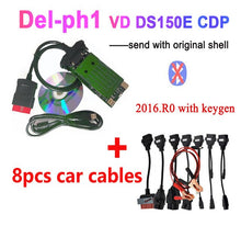 Charger l'image dans la galerie, 2019 NEW VCI vd ds150e cdp pro plus 2016.r0 with keygen for delphis obd2 diagnostic repair tool led 3in1 Scanner for cars trucks