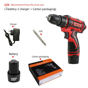 Cordless Drill Mini 12V 16.8V 36V Rechargeable Power Tools 2 speed Flexible Shaft Cordless Screwdriver Electric