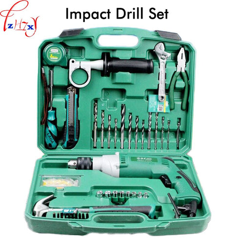 1PC Multi-purpose Impact Drill For Household Use LA414413 Upholstery Drilling Wall Percussion Impact Drill Set Power Tools 220V
