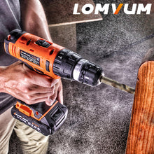 Charger l'image dans la galerie, 20V/16 Parafusadeira Furadeira Impact Drill Cordless Hammer Drill wall Electric Drill Concrete electric screwdriver power tools