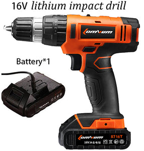 20V/16 Parafusadeira Furadeira Impact Drill Cordless Hammer Drill wall Electric Drill Concrete electric screwdriver power tools