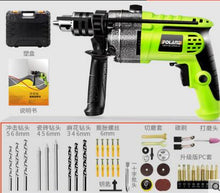 Charger l'image dans la galerie, Mini Pistol Drill Multi-function Electric Stone Rotary Hammer Wall Impact Drill Wood Drilling Machine