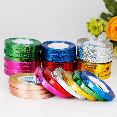 6pcs Multicolor foil Balloon Rope balloon Ribbon 5mm*10m Wedding Birthday Party balloon tool Curling ribbon Roll Ballon Streamer