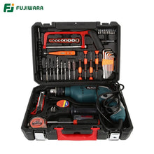 Charger l'image dans la galerie, FUJIWARA 710W 220V 50HZ Electric Impact Drill 18/38/68 Sets Household Hand-held Hammer Wall Drilling Woodworking Drill