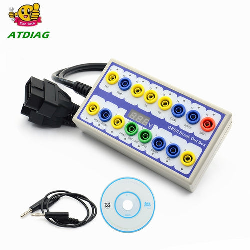 Newly Auto Car OBD 2 Break Out Box OBD2 Breakout Box OBD OBDII Protocol Detector Diagnostic Connector Detector