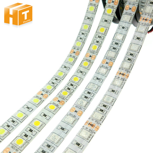 LED Strip 5050 DC12V 60LEDs/m Flexible LED Light RGB RGBW 5050 LED Strip 300LEDs 5m/lot