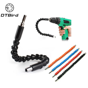 "Car Repair Tools Black 295mm Flexible Shaft Bits Extention Screwdriver Bit Holder Connect Link Electronics Drill 1/4"" Hex Shank"