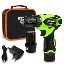 Charger l'image dans la galerie, 12V Electric Screwdriver Electric Drill lithium cordless drill Cordless Screwdriver Mini Drill rotary tool Power Tools