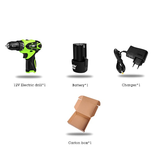 12V Electric Screwdriver Electric Drill lithium cordless drill Cordless Screwdriver Mini Drill rotary tool Power Tools