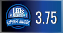 Halcyon intelligent wireless lighting system awarded 3.75/5 at LEDs Magazine Sapphire Awards